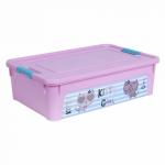 Контейнер Алеана Smart box с декором Pet Shop 14 л Розовый-Розовый
