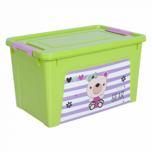 Контейнер Алеана Smart box с декором Pet Shop 3,5 л Оливковый-Оливковый