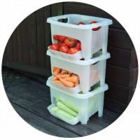 Кошик для зберігання овочів Алеана 122077 Зелений