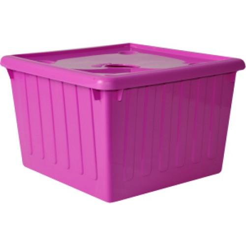 Емкость для хранения 25 л Алеана 122043 Розовый
