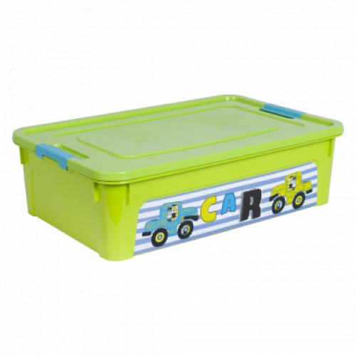 Контейнер Алеана Smart box з декором My car 14 л Оливковий-Оливковий