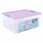 Контейнер Алеана Smart box с декором Pet Shop 7,9 л Прозрачный-Розовый