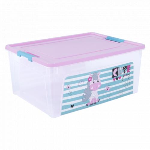 Контейнер Алеана Smart box з декором Pet Shop 7,9 л Прозорий-Рожевий