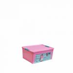Контейнер Алеана Smart box с декором Pet Shop 7,9 л Розовый-Розовый