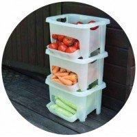 Корзина для хранения овощей Алеана 122077 Зеленый