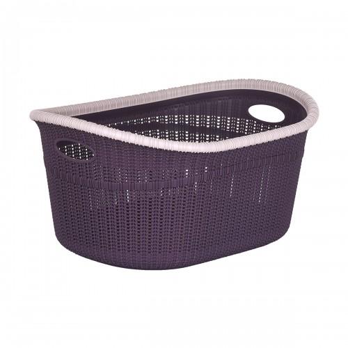 Корзина Irak Plast Knit 35 л LA-530 Фиолетовый