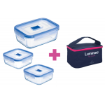 Набор контейнеров Pure Box Active с сумкой Luminarc P8002