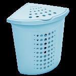 Кошик для білизни кутова Алеана 122051 Блакитний крижаний