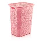 Корзина для белья Dunya Motif 50 л 05017-602 Розовый