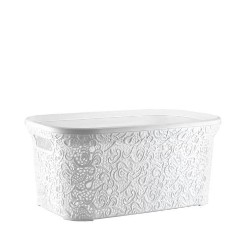 Корзинка для белья Elif Ажур 323-1 Белый
