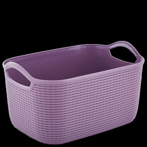 Корзина для хранения Алеана Джут S 127007 Фиолетовый
