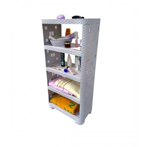 Етажерка Plasticscraft Ротанг 5 полиць Білий