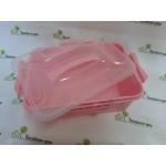Контейнер с вкладышем-органайзером Розовый