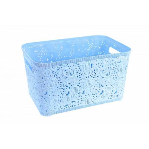 Корзина для хранения Ажур 4,7 л Голубой