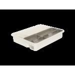 Лоток для столовых приборов со вставкой Алеана 167402 Белая роза-Какао