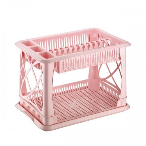 Сушка для посуды Elif 306-3 Розовый