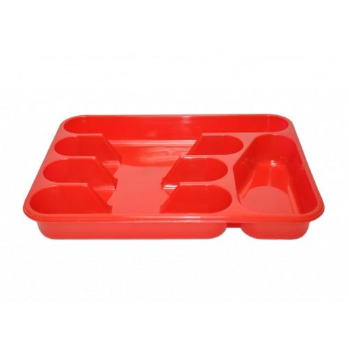 Лоток для столовых приборов Lamela Красный