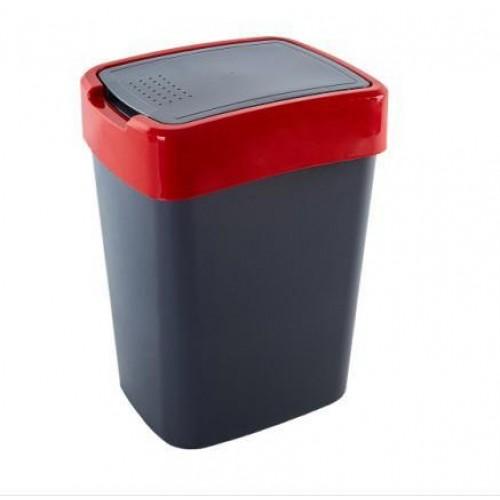 Ведро для мусора 10 л Алеана Евро 122066 Гранит-Красный