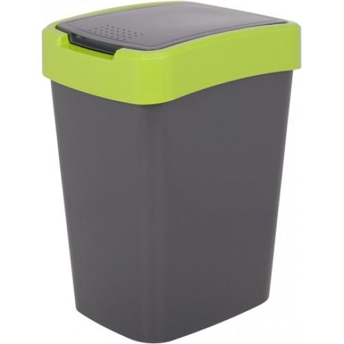 Ведро для мусора 10 л Алеана Евро 122066 Гранит-Оливковый
