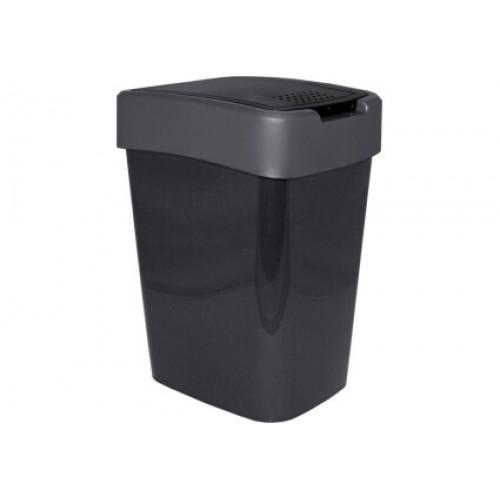 Відро для сміття 10 л Алеана Євро 122066 Граніт-Сірий