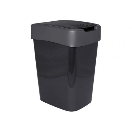 Ведро для мусора 10 л Алеана Евро 122066 Гранит-Серый