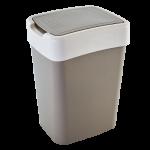 Ведро для мусора 10 л Алеана Евро 122066 Какао-Белая роза