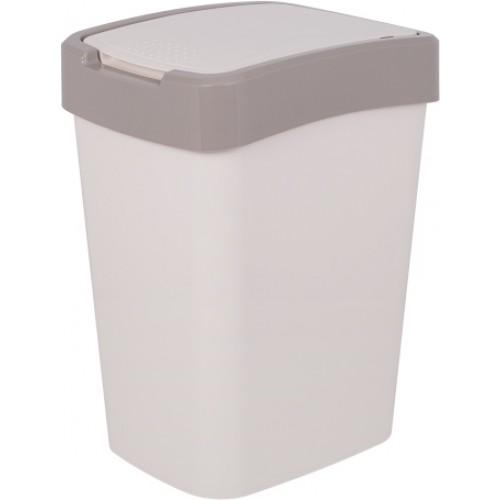 Ведро для мусора 18 л Алеана Евро 122067 Белая роза-Какао
