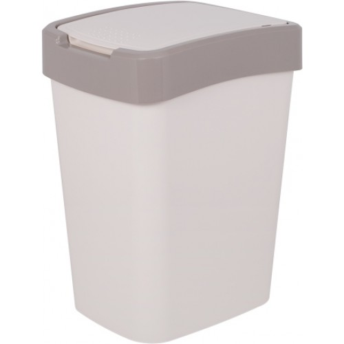 Ведро для мусора 25 л Алеана Евро 123067 Белая роза-Какао