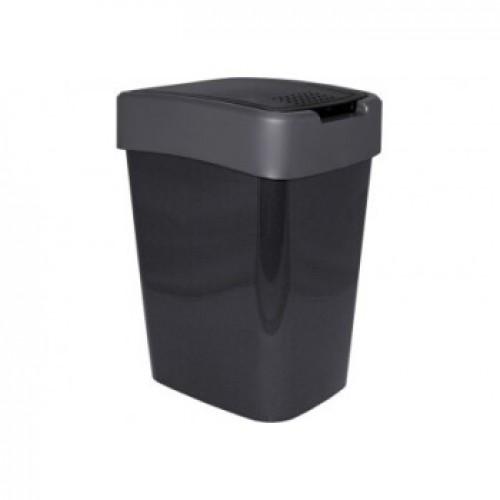 Відро для сміття 25 л Алеана Евро 123067 Граніт-Сірий