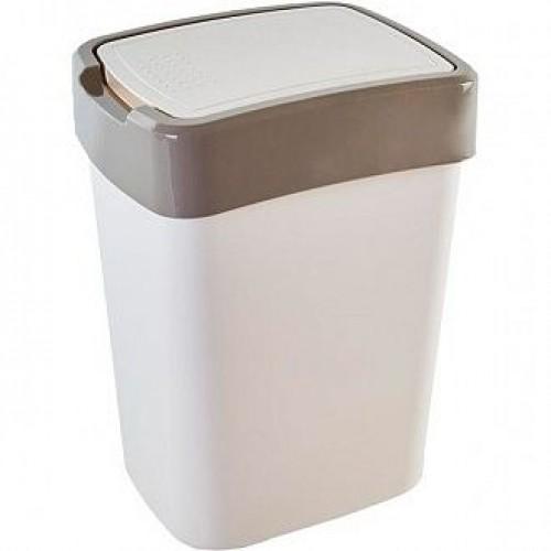 Ведро для мусора 45 л Алеана Евро 123068 Белая роза-Какао