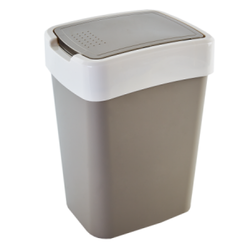 Ведро для мусора 45 л Алеана Евро 123068 Какао- Белая роза