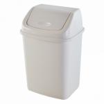 Ведро для мусора Алеана 10 л 122063 Белая роза