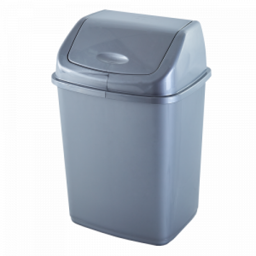 Ведро для мусора Алеана 10 л 122063 Серый