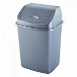 Ведро для мусора Алеана 18 л 122065 Серый