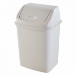 Ведро для мусора Алеана 5 л 122061 Белая роза