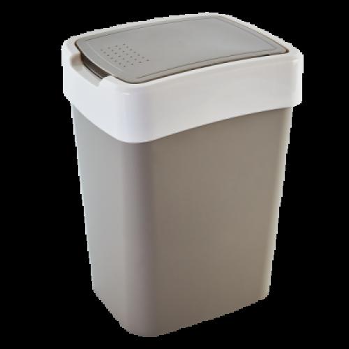 Ведро для мусора 18 л Алеана Евро 122067 Какао-Белая роза