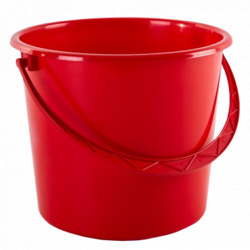 Ведро пищевое с крышкой Алеана 10 л Красный